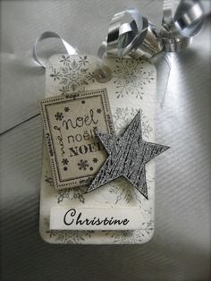 Mes petites étiquettes Christmas Gift Tags, Christmas Wrapping, All Things Christmas, Holiday Cards, Star Cards, Wine Tags, Gift Labels, Paper Tags, Card Tags