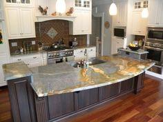 engineered quartz kitchen countertop.