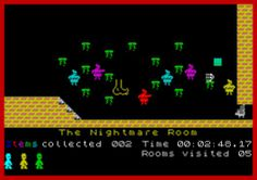 Jet Set Willy by Matthew Smith. ZX Spectrum. Much love for this game.