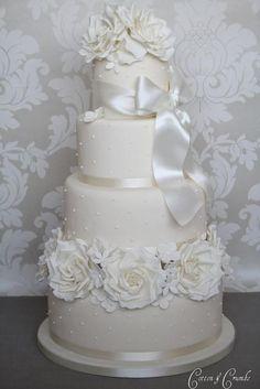 Ivory rose cake