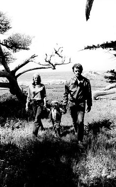 """ Clint Eastwood with his wife Maggie and son Kyle. Photographed by Douglas Jones, c. 1973. """