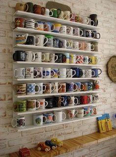 Coffee Mug Wall