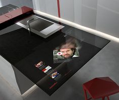 HIGH-TECH KITCHEN DESIGN WITH INTEGRATED SAMSUNG GALAXY TABLET