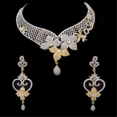 Indian CZ AD Ethnic Gold & Silver Tone Bollywood Necklace Bridal Jewellery 533 #Unbranded