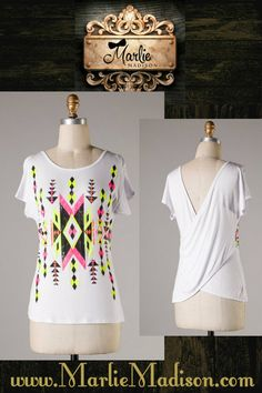 Tempo Top in White http://www.marliemadison.com/tops/tempo-top