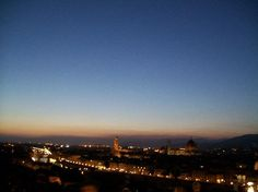 Florence: Night at Piazzale Michelangelo (sorry it's blurry)