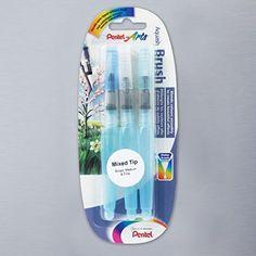 Pentel Water Brush Medium, Broad and Fine Set of 3 | Mark's top 60 - 60% off RRP | Cass Art