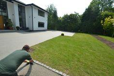 Resin bound gravel installation in Knutsford.