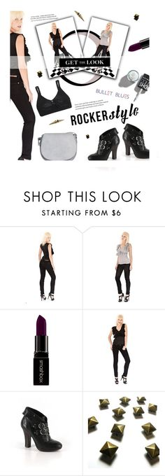 """""""Rocker Chic #bulletblues"""" by bulletblues ❤ liked on Polyvore featuring Smashbox, Frye and Bullet"""