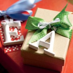 Elegant wooden letters are a smart alternative to traditional Christmas gift tags