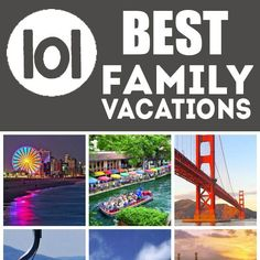 Vacation Ideas: Last Minute Travel: 101 Best Family Vacations in the USA. I've been to but I'll happily revisit any of them with the kids!or else head to new places altogether, there are plenty of neat places across the country! Top Family Vacations, Family Vacation Destinations, Vacation Trips, Family Travel, Family Trips, Best Vacations With Kids, Fun Vacations, Travel Destinations, Best Vacation Places