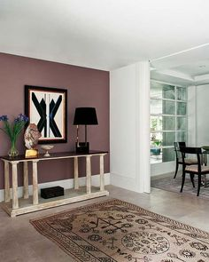 Dusty Mauve Accent Wall Living Room Accents Bedroom