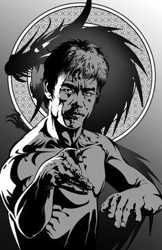 Bruce Lee Art, Bruce Lee Martial Arts, Bruce Lee Quotes, Kung Fu, Bruce Lee T Shirts, Asian Wallpaper, Black And White Wallpaper, Movie Poster Art, Batman Art