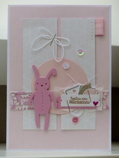 Encore du rose... - Le blog de scrapacrolles Confirmation Cards, New Baby Cards, Marianne Design, Baby Scrapbook, Kids Cards, Mini Albums, New Baby Products, Clock, Rose