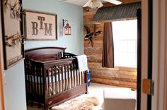 Rustic Boy Nursery, oh, my, word, LOVE!! And this is even the same size and layout of the room we have.. I think it's meant to be.. When I'm actually pregnant.. And if its a boy.. Lol