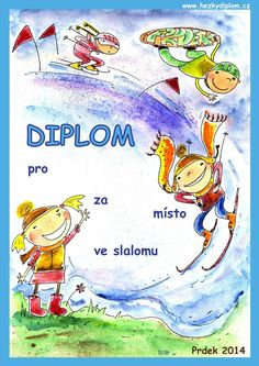 diplom pro děti - lyžování Art For Kids, Education, Children, Crafts, Fictional Characters, Desserts, Art For Toddlers, Young Children, Tailgate Desserts