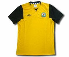 Blackburn Rovers Away Football Shirt 2011-12 by Umbro. $48.37. Blackburn Rovers Away Soccer Jersey 2011-12 Yellow with black collar and sleeves Embroided Umbro logo and club crest Made from 100% polyester Official Umbro shirt