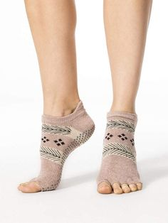 Grip Half Toe Low Rise Leg Warmers + Socks in Sugar Plum by Toesox from Grip Socks, Leg Warmers, Barefoot, Heeled Mules, Organic Cotton, Peep Toe, Heels, Achilles Tendon, Pilates Barre