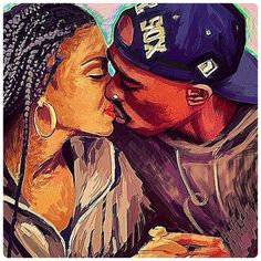 """Tupac and Janet Jackson's """"first kiss"""" Art from #PoeticJustice pinterest: @isis.dagoddesss♌️"""