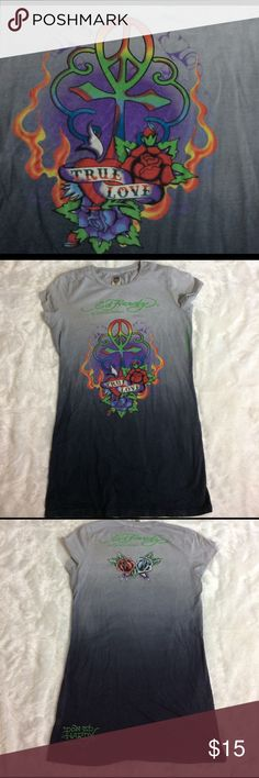 Ed Hardy by Christian Audigier tee Size large in great condition *no stains or tears * very little pull from wear Ed Hardy Tops Tees - Short Sleeve