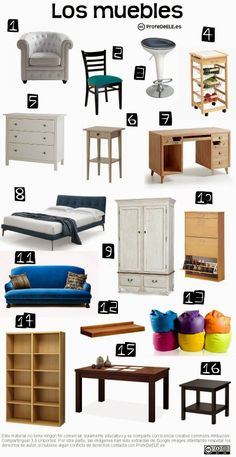 Actividad online (A2/B1) con vocabulario de los muebles de la casa: http://bit.ly/1gDLB2o | Más materiales en www.ProfeDeELE.es