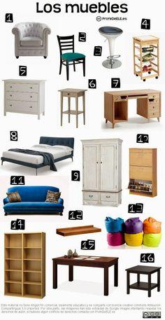 Actividad online (A2/B1) con vocabulario de los muebles de la casa: http://bit.ly/1gDLB2o   Más materiales en www.ProfeDeELE.es