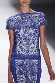 BLUE LAGOON EMBROIDERED LACE  CAP SLEEVE SHEATH DRESS #lace #tadashishoji