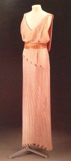 Beaded evening dress, Jean Patou. 1937