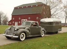 Vintage Car with Camper