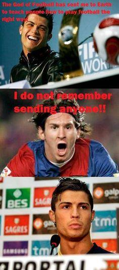 Cristiano Ronaldo Angers The God Of Football