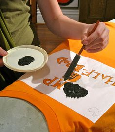 goodness (recycled and otherwise): How to make a Camp Half-Blood t-shirt - part 2 of 2