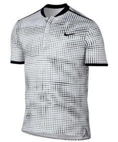 Nike Court Advantage Printed Tennis Polo Mens 2XL White Black 801702 100 #Nike #ShirtsTops