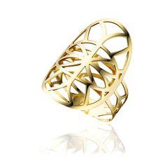 Anel em ouro amarelo 18k. Joias Vivara. Coleção Gold Renda