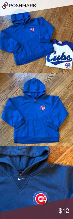 Chicago Cubs sweatshirt Chicago cubs hoodie sweatshirt by Nike size small (8/10). Elastic around wrist is on the wide side. Looks like the patch was re attached see picture. Nike Shirts & Tops Sweatshirts & Hoodies