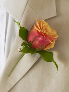 How to Make a Rose Boutonniere:   Create a gorgeous rose boutonniere for any special occasion by following these simple step-by-step instructions. This approach uses wire to keep the rose maleable. You can experiment with using other flowers.