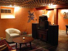 Interesting idea for informal ceiling finish in the basement.