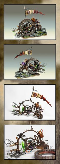Skaven Doomwheel: awesome vehicles (love the little rats running to power it.)