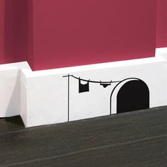 This is a vinyl decal for the baseboards of your house. I love it. I think I may paint this at our new place.