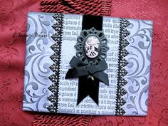 Gothic Greeting Card  Purple & Black Lady by ImmortalVisions, $7.50