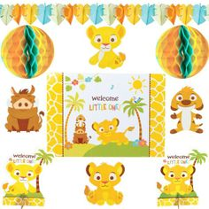 Lion King Baby Shower Room Decorating Kit 10pc  Party City $9.99!!