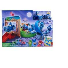 "Favorite nighttime heroes Catboy, Owlette and Gekko kick the action into high gear with the new PJ Masks Rival Racers Track Playset, based on Entertainment One's hit TV series ""PJ Masks."" Kids can play out the adventures seen in the show as they zoom through the raceway to save the Museum from Night Ninja! Launch the vehicles into action using one of two built in mega launchers, then zoom through the loop and around the curves. Watch out for Luna Girl when she pops-up on the t..."
