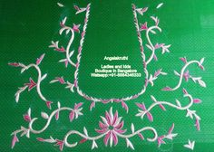 Ladies and kids boutique in Bangalore Neck designs, Hand Embroidery designs, Hand Embroidery in Bangalore, Parrot designs Hand Embroidery, zardosi work blouses, Blouse Hand Embroidery desings, Designer blouse designs, pattu blouse zardosi work designs, pattu blouse designs for back, blouse designs hand work, work blouse designs for pattu sarees, work blouse designs catalogue, latest blouse back designs, maggam work blouse back design, latest embroiderwork blouses,
