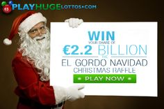 Lottery jackpots to make your dreams come true: € 2,224,000,000 El Gordo Navidad € 115,000,000 SuperEnaMax $ 91,000,000 Mega Millions $ 50,000,000 Powerball Play it online here: http://ads.playukinternet.com/tracking.php/text/3113/12626/3368003/1