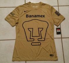 NWT Authentic NIKE Pumas Unam Mexico GOLD Soccer Jersey Men's Large in Sports Mem, Cards & Fan Shop, Fan Apparel & Souvenirs, Soccer-International Clubs | eBay