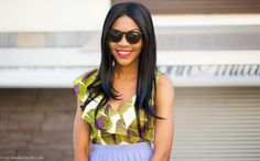 ModaVracha's Spot : Personal Style: Zara African Printed Top With Frills And Pleated Pastel Midi Skirt Outfit
