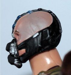 The dark Knight Rises Movie Masters Bane Head Close UP #detail