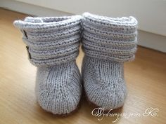 Booties made for my friend's granddaughter.