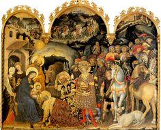 Gentile de Fabriano, L'Adoration des Mages (1423), pala Strozzi, Florence.