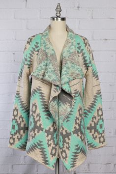 Whitney's Online Wardrobe - Mint For A Campfire Cardigan (http://www.shopwowboutique.com/mint-for-a-campfire-cardigan/)