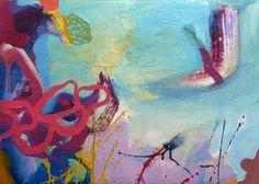 "Artist: Carles Azcon Jutgla; Oil 2013 Painting ""Bajo el mar"""